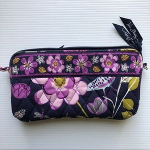 vera bradley floral quilted wallet